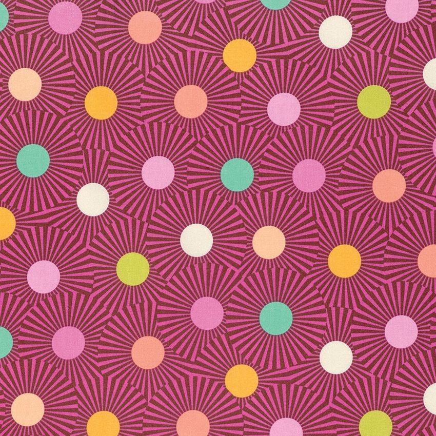 7267 Orange pink med prikker