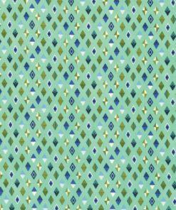 7265 Grøn med romber