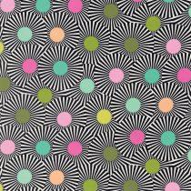 7276 Sort strib med prikker
