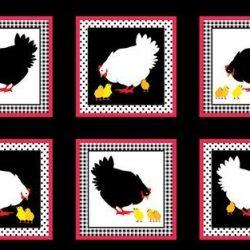 7272 - Panel med høns