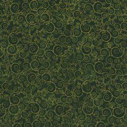 7287 Grøn m. guldsnirkler