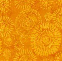 7285 Gul med blomster Bali/Batik