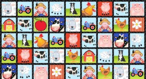 7302 - Panel med landbrugsdyr