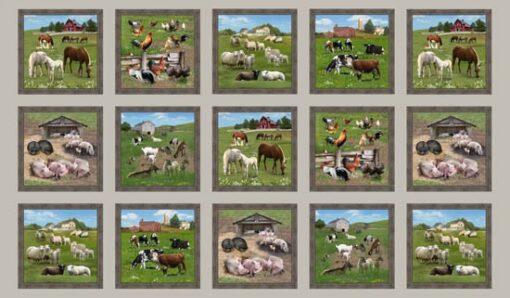 7299 - Panel med landbrugsmotiver