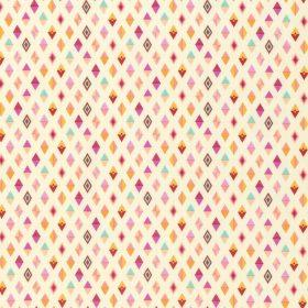 7277 Cremefarvet med pink romber