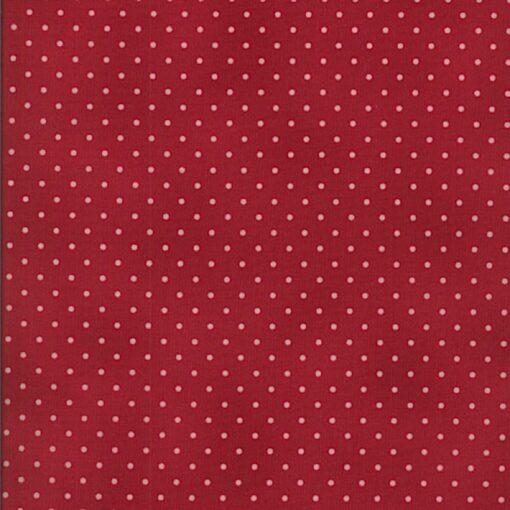 7305 Rød med hvide prikker