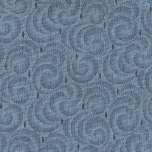7307 Blå m. spiraler