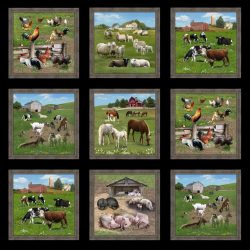 7308P - Panel med landbrugsdyr