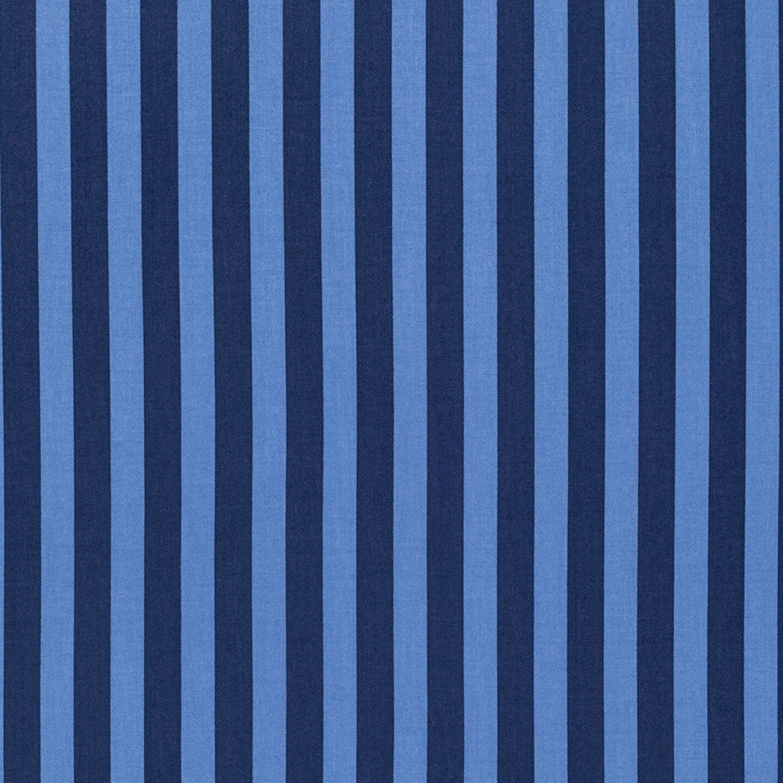 7303 - Blå patchworkstof med strib - TULA PINK