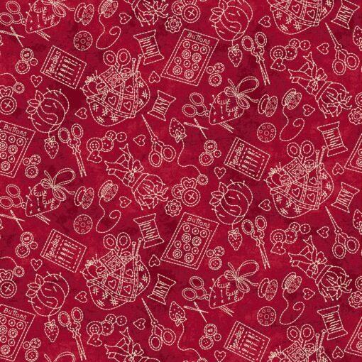 7316 - Rød meleret med syting