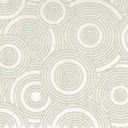 7322 - Hvid m. grå cirkler