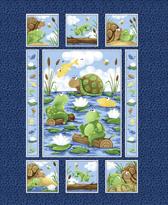 7325 Panel med skildpadde og frø