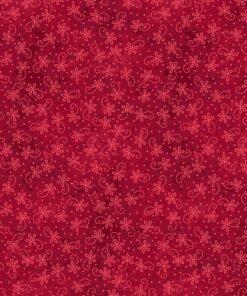 7329 Rød med rød blomst