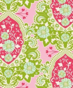 7340 - Grøn m. pink - TILDA