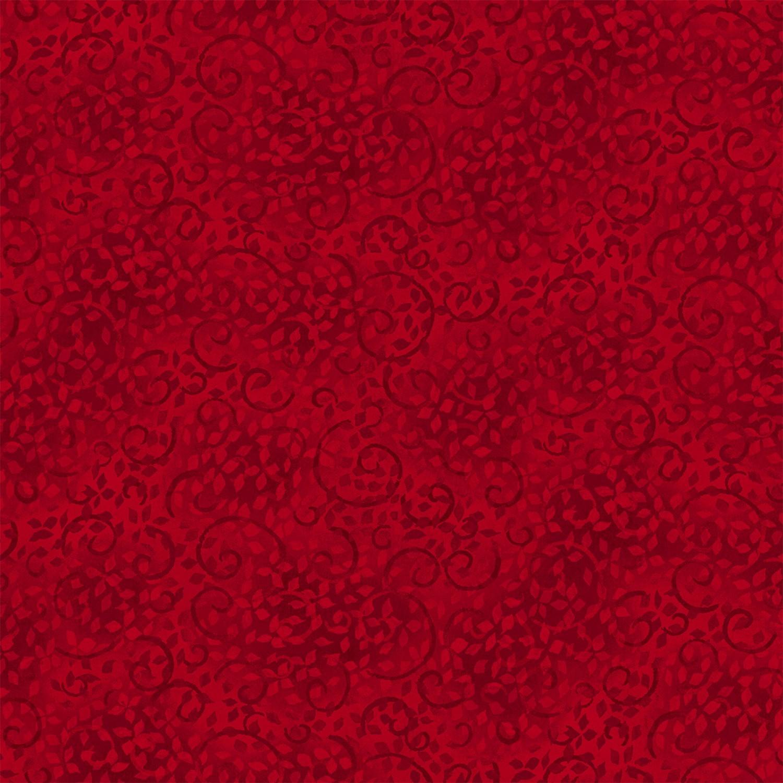 7331 - Rød m. grene og blade