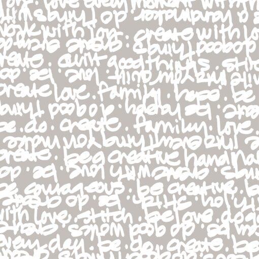 7332 Lysgrå med hvid skrift