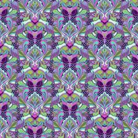 7335 Blå og lilla Ugler - TULA PINK