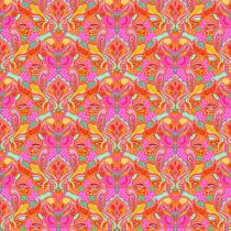 7338 Pink Orange med ugler - TULA PINK