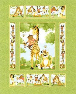 7339 Panel med junglens dyr