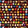 7345 Sort patchworkstof med emoji