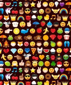 7345 Sort med emoji