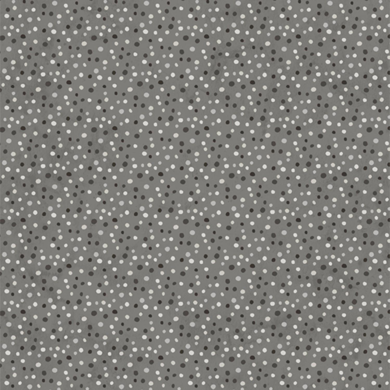 7367 Mellemgrå patchworkstof m. prikker patchworkstof
