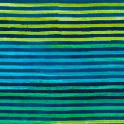 7363 - Tyrkis blå strip - Bali batik