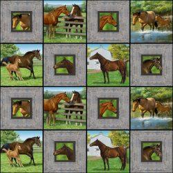 7360P Panel med heste