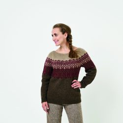 Mønstret Sweater