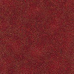 7386 Rød med guldprikker - JUL