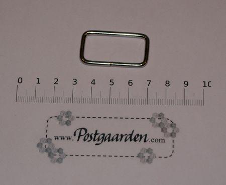 Ring firkantet 21 x 38 mm - sølv