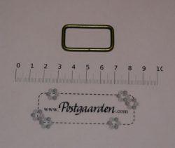Ring firkantet 21 x 38 mm gl. guld
