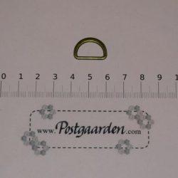D-ring Gl. guld 20 mm