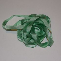 Silkebånd - Lys grøn 7 mm