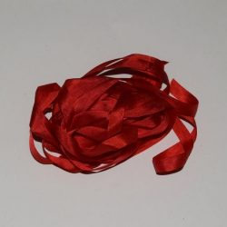Silkebånd - Postkasserød 7 mm