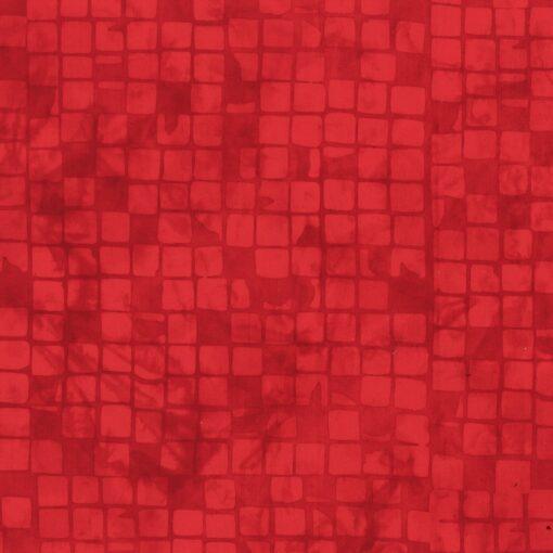 7393 Rød m. tern bali batik