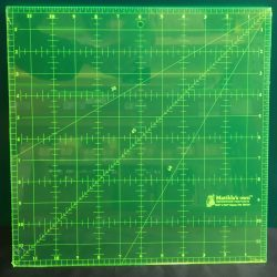 Neon gul lineal til patchwork 12x12 inch.