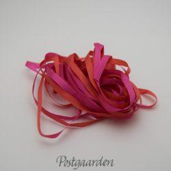 Rød pink silkebånd til båndbroderi