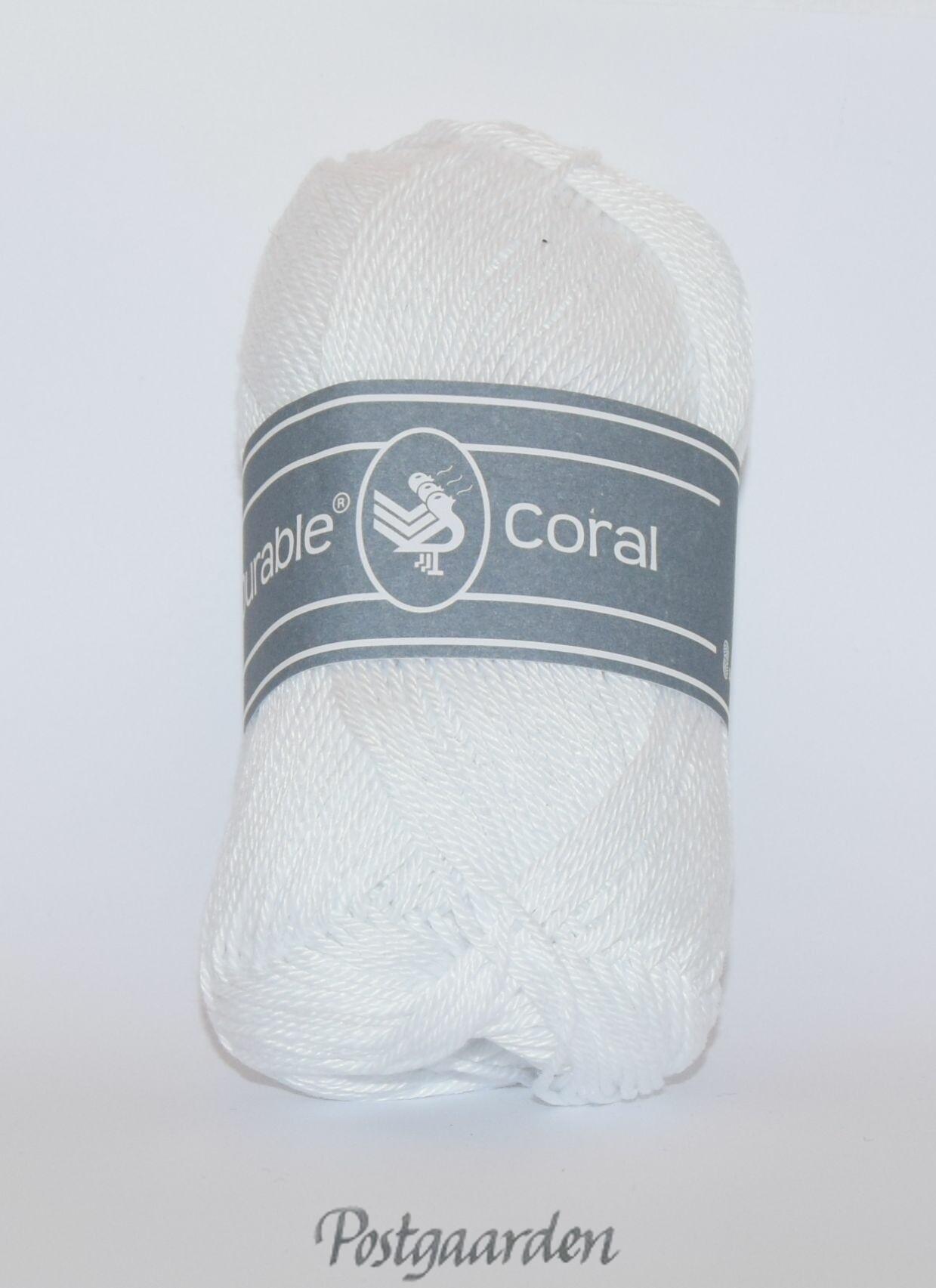 310 - Hvid Durable Coral Bomuldsgarn