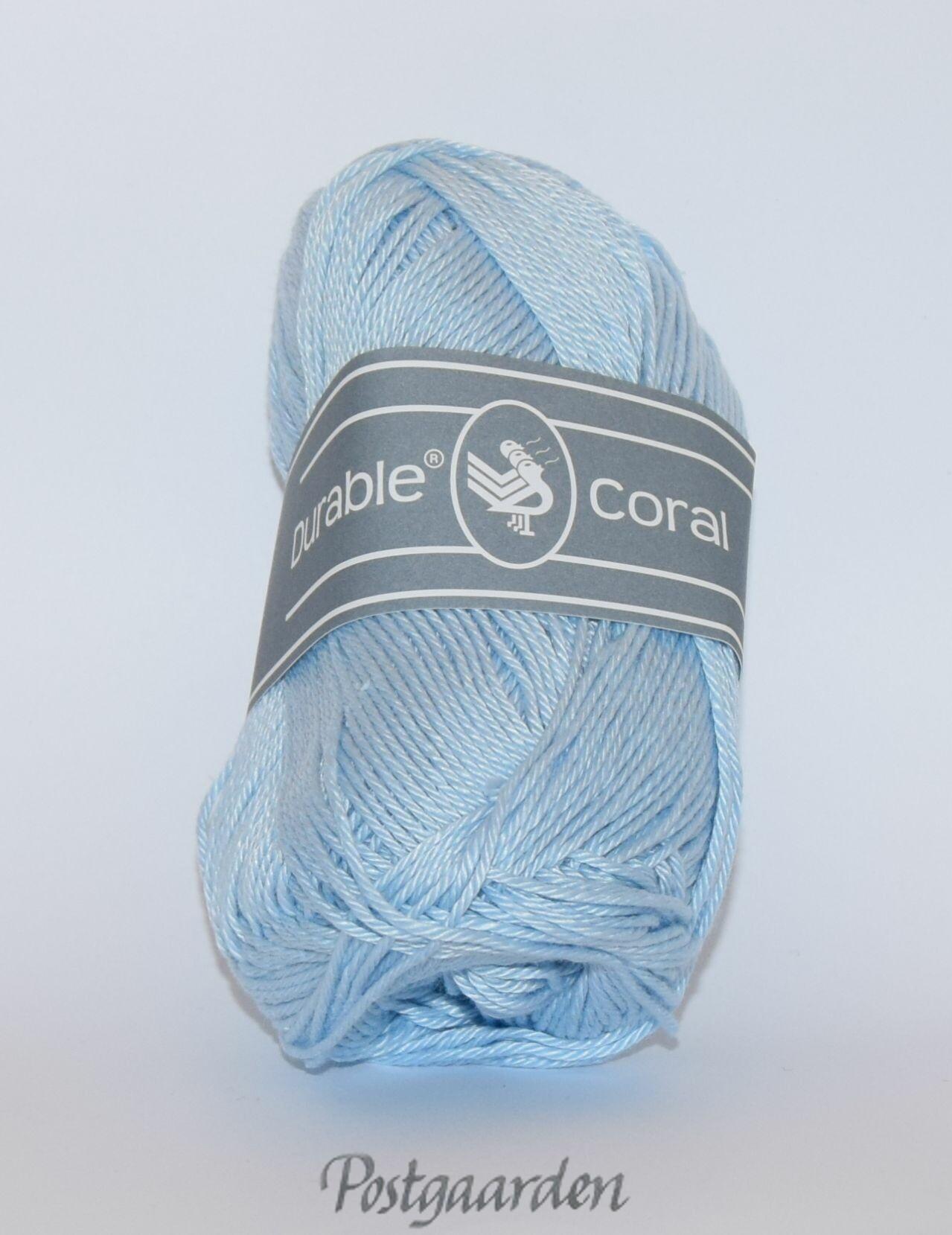 282 - Lys Blå Durable Coral Bomuldsgarn