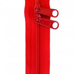 Rød taskelynlås