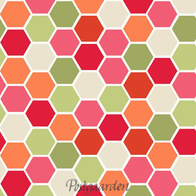 mini hexagons rød grøn