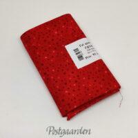 FQ7144 - Rød med prikker patchworkstof