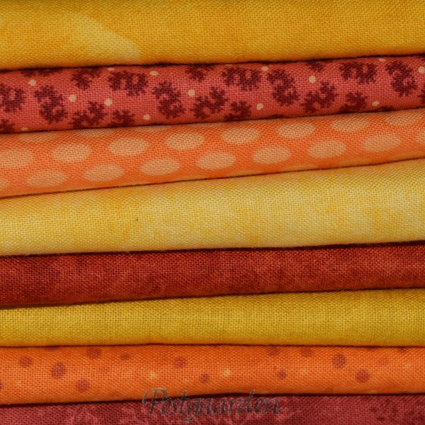 Gul/Orange fat quarters