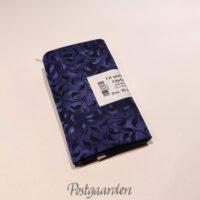 FQ6910 Mørkblå patchworkstof med blade fat quarter