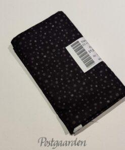 FQ7001 7001 Sort patchworkstof med prikker fat quarter 50 x 55 cm