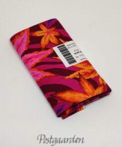 7176 Lilla patchworkstof m. orange blade - Phillip Jacobs