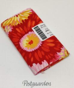 FQ7193 - Orange/Pink patchworkstof m. blomster