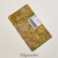 FQ6585 Gylden med blomst - 6585 bali batik patchworkstof