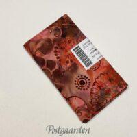 FQ6691 6691 Rød og Brun Bali/Batik patchworkstof